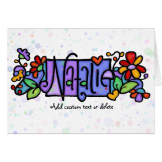 NATALIE hand-painted custom name Card