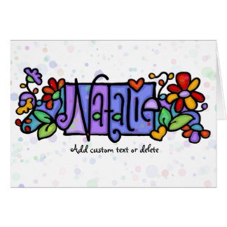 NATALIE hand-painted custom name Greeting Card
