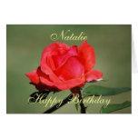 Natalie Happy Birthday Scarlet Rose Card