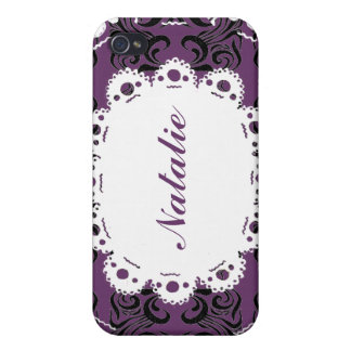 Natalie Lace & Damask Victorian Phone Cover For iPhone 4