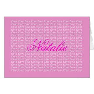 Natalie Lavender Endless Love Card