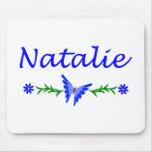 Natalie (mariposa azul) alfombrilla de ratones