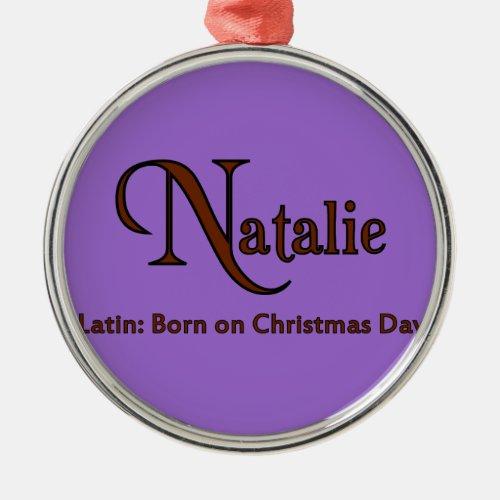 Natalie Metal Ornament