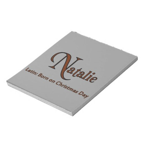 Natalie Notepad