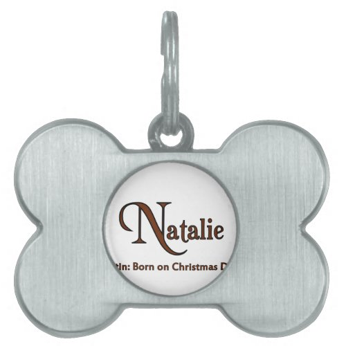Natalie Pet ID Tag