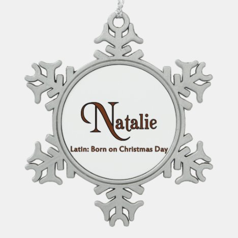 Natalie Snowflake Pewter Christmas Ornament