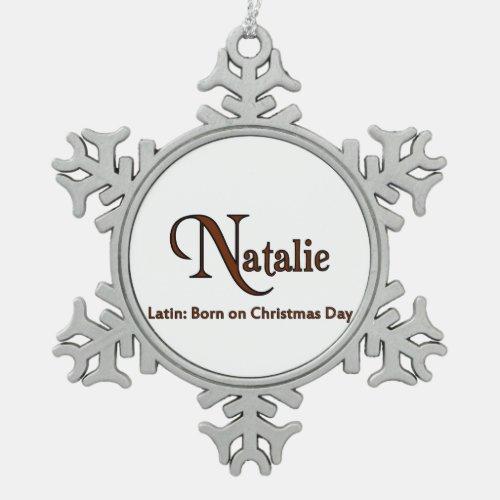 Natalie Snowflake Pewter Christmas Ornament