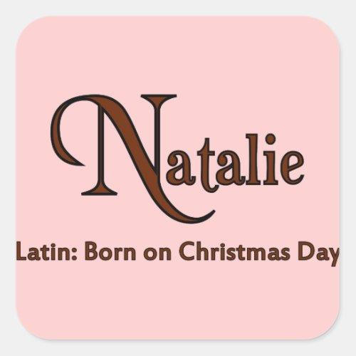 Natalie Square Sticker