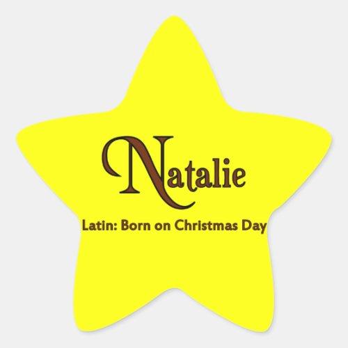 Natalie Star Sticker