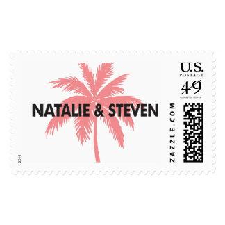 Natalie & Steven Palm Tree Stamp