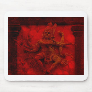 Nataraj Dancing Shiva Wall Relief Statue Red Grung Mouse Pad