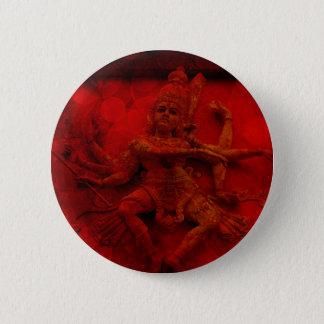 Nataraj Dancing Shiva Wall Relief Statue Red Grung Pinback Button