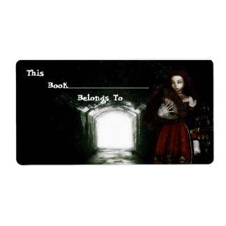 Natasha Bookplate Personalized Shipping Labels
