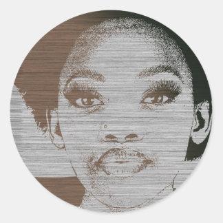 Natasha Brown Classic Round Sticker