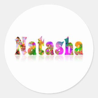 Natasha Classic Round Sticker
