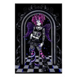 Natasha Gothic Pink Tattoo Angel Poster