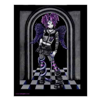 Natasha Gothic Tattoo Angel Poster