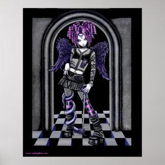 Natasha Gothic Tattoo Angel Poster