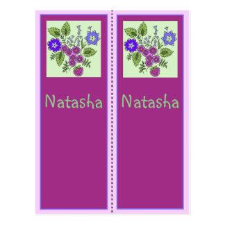 Natasha Personalized Bookmark Postcard