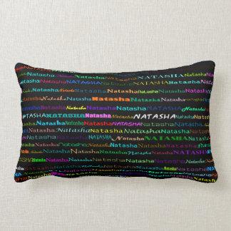 Natasha Text Design I Lumbar Pillow