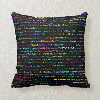 Natasha Text Design I Throw Pillow