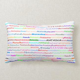 Natasha Text Design II Lumbar Pillow