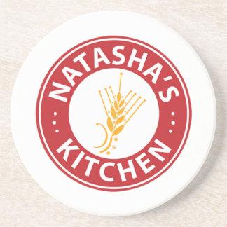 Natasha's Kitchen Logo Coasters