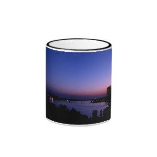 Natchez , Mississippi Skyline Ringer Coffee Mug