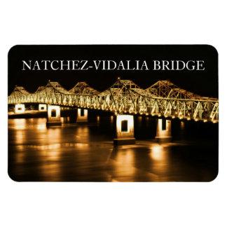 Natchez-Vidalia Bridge - Gold Premium Magnet