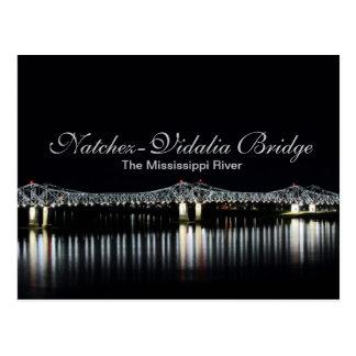 Natchez-Vidalia Bridge - Mississippi River Post Cards