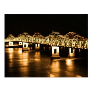 Natchez-Vidalia Mississippi River Bridge - GOLD Postcards