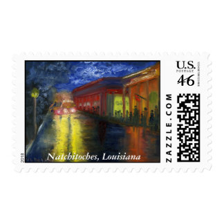 Natchitoches, Louisiana at the Mardi Gras Parade Postage Stamps