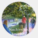 Natchitoches, Luisiana en el desfile del carnaval Etiquetas Redondas