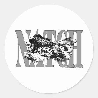 NATCHShitzu Classic Round Sticker