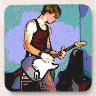Nate and Guitar Drink Coaster