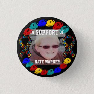 Nate Autism awareness Button