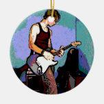 Nate y guitarra adorno de reyes