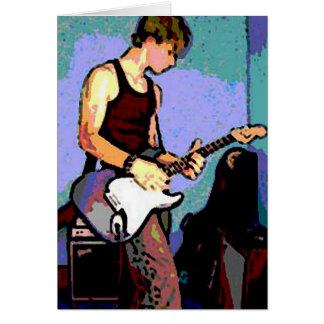 Nate y guitarra tarjeta de felicitación