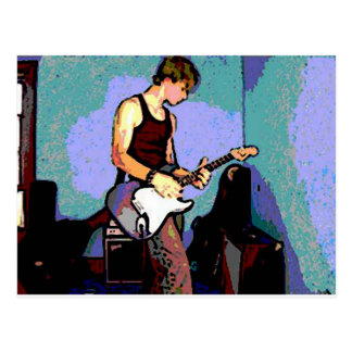 Nate y guitarra postal