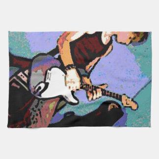 Nate y guitarra toalla de cocina