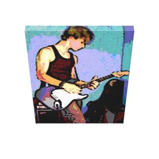 Nate's Guitar Canvas Print