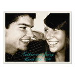 """Nathan and Jancy 4.25"""" X 5.5"""" Invitation Card"""