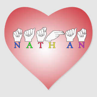 NATHAN ASL FINGERSPELLED SIGN NAME STICKERS