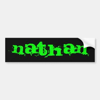Nathan Etiqueta De Parachoque