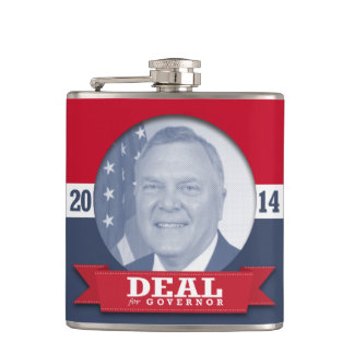 NATHAN DEAL CAMPAIGN HIP FLASKS