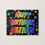 "[ Thumbnail: ""Nathan"" First Name, Fun ""Happy Birthday"" Jigsaw Puzzle ]"
