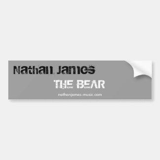 Nathan James, The Bear, Bumper Sti... - Customized Car Bumper Sticker