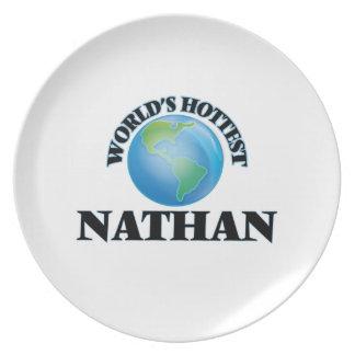 Nathan más caliente del mundo plato para fiesta