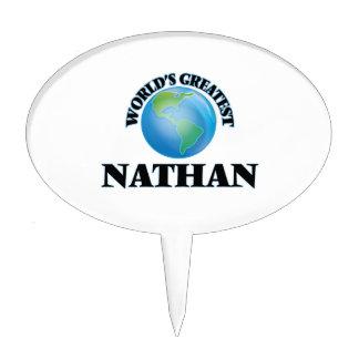 Nathan más grande del mundo decoración para tarta