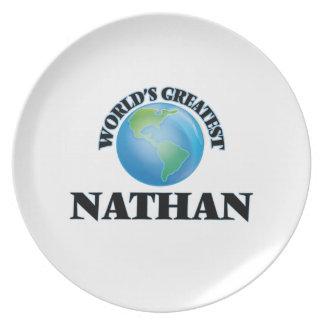 Nathan más grande del mundo plato de cena